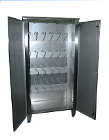 Stainless steel sterilizing cabinet for knife-holder