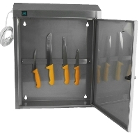 Stainless steel knife sterilizing cabinet