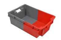 Bac rectangulaire 600 x 400 gris et rouge
