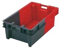 Bac rectangulaire 800 x 450 gris et rouge