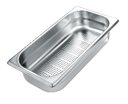 Gastro perforated stainless steel food pan
