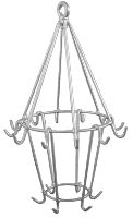 Stainless steel meat hanger with 18 hooks