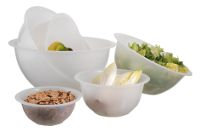 Polypropylene hemispherical mixing bowl