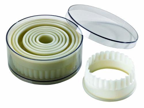 Découpoirs ronds cannelés composite (Bte 9)
