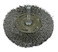 Conical wire brush