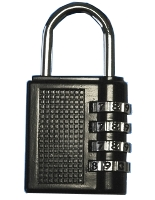 Brass padlock with numbers