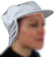 Casquette coton à résille avec couvre nuque