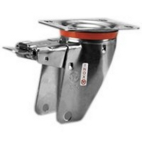 Swivel housing in stainless steel with brake and plate