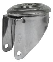 Swivel housing in stainless steel with central hole