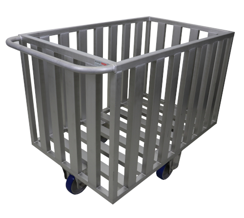 Stainless steel openwork trolley
