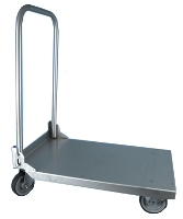 Chariot inox Eco roues caoutchouc