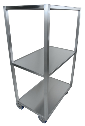 Stainless steel trolley with trays