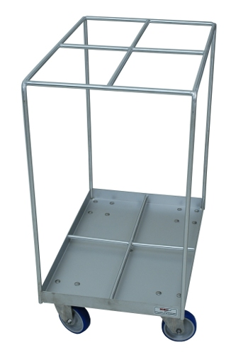 Stainless steel trolley for smoking sticks storage
