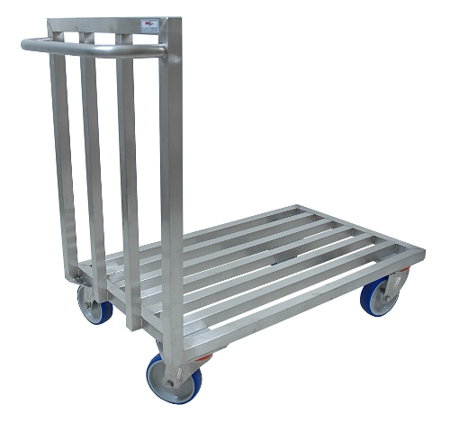 Stainless steel tubular platform trolley