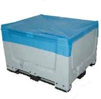 Coiffe bleue pour caisse palette 1200x1000