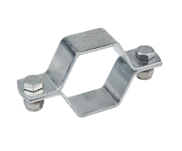 SMS stainless steel hexagon pipe holder without rod