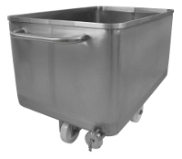 Stainless steel tank with drain
