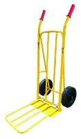 Lacquered steel hand truck