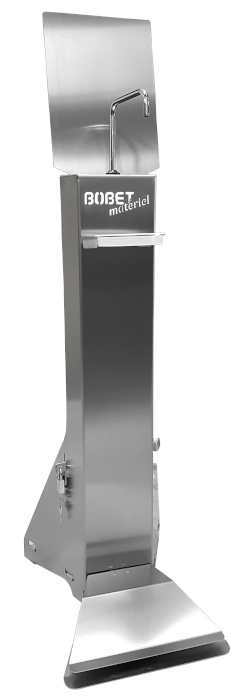 Stainless steel gel dispenser with pedal