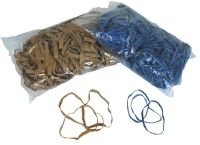Rubber bands, blue or blond