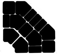 Set of 14 dishes in black plexi