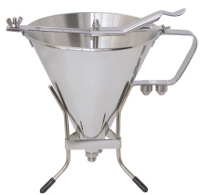 Stainless steel piston funnel