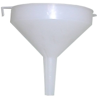 White plastic funnel