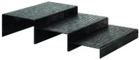 Escalier 3 marches en acrylique noir