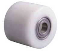 Nylon roller for pallet truck with ball bearing