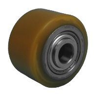PU roller for pallet truck with ball bearing