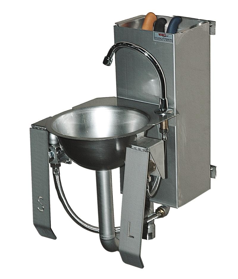 Washbasin with spraying sterilizer