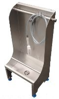 Stainless steel manual trough boot washer