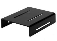 Black plexiglas step display