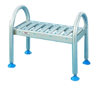 Stainless steel footboard with 1 step