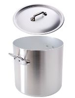 Aluminum stockpot (with lid)