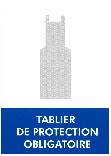 Panneau Port de tablier obligatoire