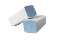 Essuie-mains plié en W bleu