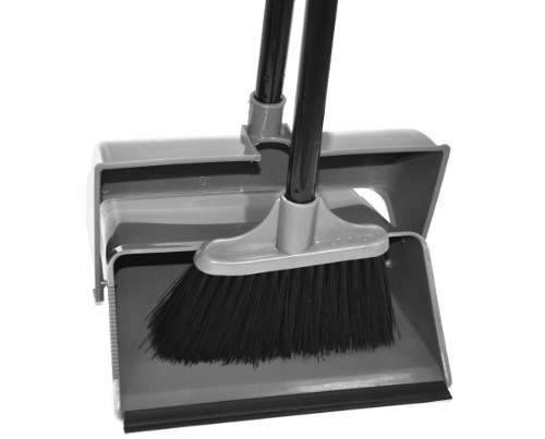 Dustpan with handle LOBBY + hand brush