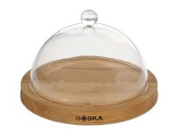 Cheese platter in oak with dome