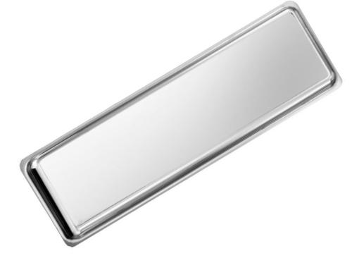 Rectangular stainless steel dish
