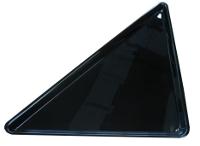 Black triangular dish