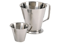 Stainless steel graduated pitcher