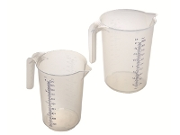 Polypropylene graduated pitcher with opened handle