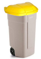 100 liter plastic bin with wheels