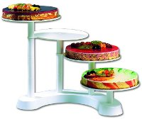 4-tier counter cake stand