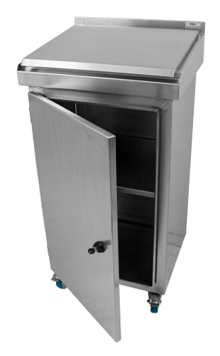 Stainless steel desk cabinet on casters