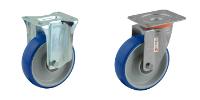 Roulette inox à platine roue bleue RB