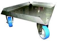 Stainless steel dolly Eco 620x420