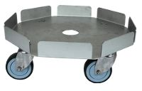 Round stainless steel dolly