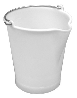 White polyethylene 12 liter bucket